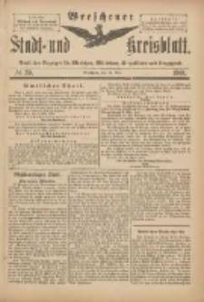 Wreschener Stadt und Kreisblatt: amtlicher Anzeiger für Wreschen, Miloslaw, Strzalkowo und Umgegend 1901.05.11 Nr39