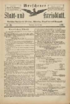 Wreschener Stadt und Kreisblatt: amtlicher Anzeiger für Wreschen, Miloslaw, Strzalkowo und Umgegend 1901.05.22 Nr42
