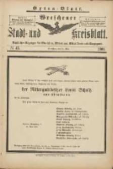 Wreschener Stadt und Kreisblatt: amtlicher Anzeiger für Wreschen, Miloslaw, Strzalkowo und Umgegend 1901.05.24 Nr43