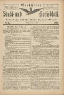 Wreschener Stadt und Kreisblatt: amtlicher Anzeiger für Wreschen, Miloslaw, Strzalkowo und Umgegend 1901.05.25 Nr44