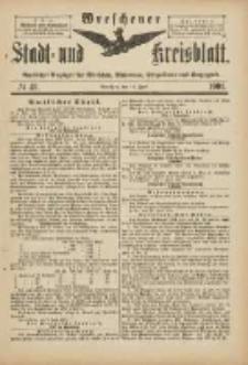 Wreschener Stadt und Kreisblatt: amtlicher Anzeiger für Wreschen, Miloslaw, Strzalkowo und Umgegend 1901.06.12 Nr49