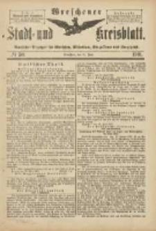 Wreschener Stadt und Kreisblatt: amtlicher Anzeiger für Wreschen, Miloslaw, Strzalkowo und Umgegend 1901.06.15 Nr50