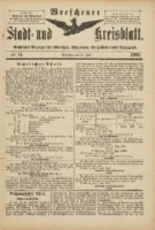 Wreschener Stadt und Kreisblatt: amtlicher Anzeiger für Wreschen, Miloslaw, Strzalkowo und Umgegend 1901.06.19 Nr51