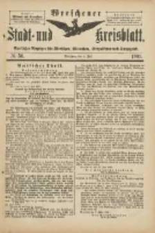 Wreschener Stadt und Kreisblatt: amtlicher Anzeiger für Wreschen, Miloslaw, Strzalkowo und Umgegend 1901.07.06 Nr56