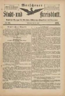 Wreschener Stadt und Kreisblatt: amtlicher Anzeiger für Wreschen, Miloslaw, Strzalkowo und Umgegend 1901.07.20 Nr60