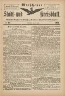Wreschener Stadt und Kreisblatt: amtlicher Anzeiger für Wreschen, Miloslaw, Strzalkowo und Umgegend 1901.07.27 Nr62