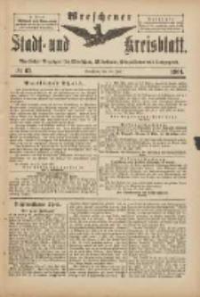 Wreschener Stadt und Kreisblatt: amtlicher Anzeiger für Wreschen, Miloslaw, Strzalkowo und Umgegend 1901.07.31 Nr63