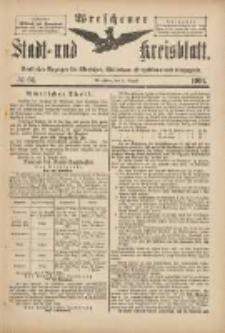 Wreschener Stadt und Kreisblatt: amtlicher Anzeiger für Wreschen, Miloslaw, Strzalkowo und Umgegend 1901.08.03 Nr64