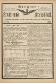 Wreschener Stadt und Kreisblatt: amtlicher Anzeiger für Wreschen, Miloslaw, Strzalkowo und Umgegend 1901.08.07 Nr66
