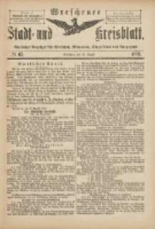 Wreschener Stadt und Kreisblatt: amtlicher Anzeiger für Wreschen, Miloslaw, Strzalkowo und Umgegend 1901.08.10 Nr67