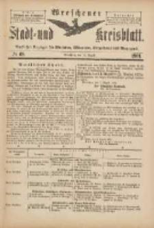 Wreschener Stadt und Kreisblatt: amtlicher Anzeiger für Wreschen, Miloslaw, Strzalkowo und Umgegend 1901.08.14 Nr68