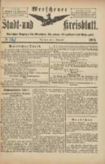 Wreschener Stadt und Kreisblatt: amtlicher Anzeiger für Wreschen, Miloslaw, Strzalkowo und Umgegend 1901.09.04 Nr74
