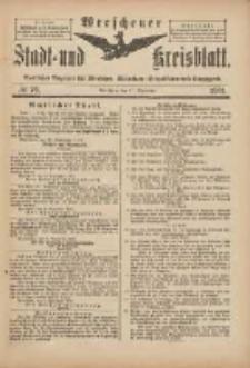 Wreschener Stadt und Kreisblatt: amtlicher Anzeiger für Wreschen, Miloslaw, Strzalkowo und Umgegend 1901.09.11 Nr76