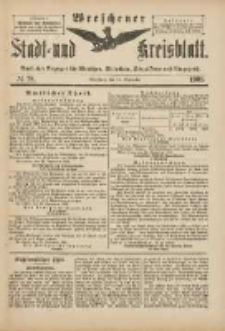 Wreschener Stadt und Kreisblatt: amtlicher Anzeiger für Wreschen, Miloslaw, Strzalkowo und Umgegend 1901.09.18 Nr78