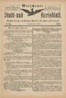 Wreschener Stadt und Kreisblatt: amtlicher Anzeiger für Wreschen, Miloslaw, Strzalkowo und Umgegend 1901.10.02 Nr82