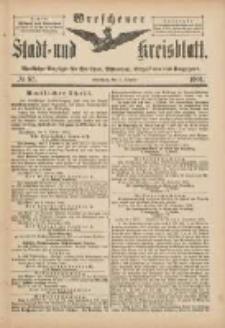 Wreschener Stadt und Kreisblatt: amtlicher Anzeiger für Wreschen, Miloslaw, Strzalkowo und Umgegend 1901.10.05 Nr83