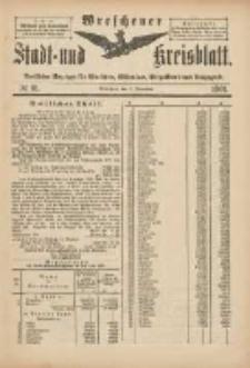 Wreschener Stadt und Kreisblatt: amtlicher Anzeiger für Wreschen, Miloslaw, Strzalkowo und Umgegend 1901.11.02 Nr91