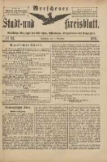 Wreschener Stadt und Kreisblatt: amtlicher Anzeiger für Wreschen, Miloslaw, Strzalkowo und Umgegend 1901.11.09 Nr93