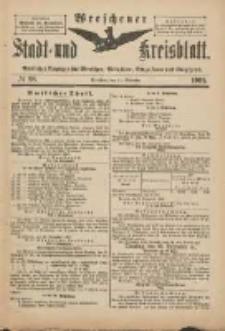 Wreschener Stadt und Kreisblatt: amtlicher Anzeiger für Wreschen, Miloslaw, Strzalkowo und Umgegend 1901.11.27 Nr98