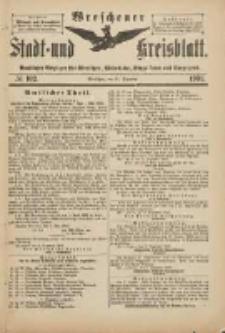 Wreschener Stadt und Kreisblatt: amtlicher Anzeiger für Wreschen, Miloslaw, Strzalkowo und Umgegend 1901.12.11 Nr102