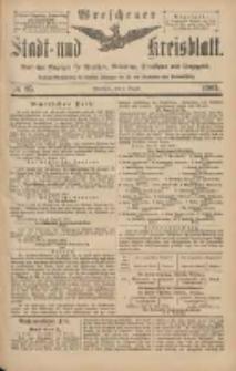 Wreschener Stadt und Kreisblatt: amtlicher Anzeiger für Wreschen, Miloslaw, Strzalkowo und Umgegend 1903.08.06 Nr95