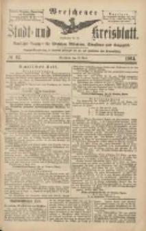 Wreschener Stadt und Kreisblatt: amtlicher Anzeiger für Wreschen, Miloslaw, Strzalkowo und Umgegend 1904.04.12 Nr42