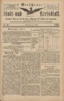 Wreschener Stadt und Kreisblatt: amtlicher Anzeiger für Wreschen, Miloslaw, Strzalkowo und Umgegend 1904.04.28 Nr49