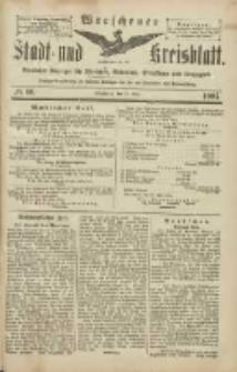 Wreschener Stadt und Kreisblatt: amtlicher Anzeiger für Wreschen, Miloslaw, Strzalkowo und Umgegend 1904.05.26 Nr60