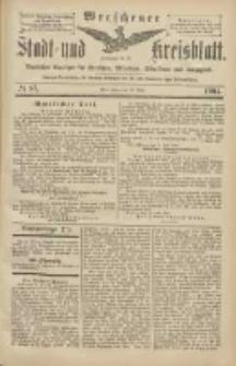 Wreschener Stadt und Kreisblatt: amtlicher Anzeiger für Wreschen, Miloslaw, Strzalkowo und Umgegend 1904.07.28 Nr87
