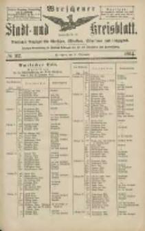 Wreschener Stadt und Kreisblatt: amtlicher Anzeiger für Wreschen, Miloslaw, Strzalkowo und Umgegend 1904.09.24 Nr112