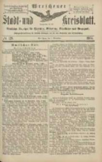 Wreschener Stadt und Kreisblatt: amtlicher Anzeiger für Wreschen, Miloslaw, Strzalkowo und Umgegend 1904.11.01 Nr128