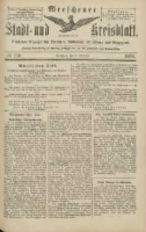 Wreschener Stadt und Kreisblatt: amtlicher Anzeiger für Wreschen, Miloslaw, Strzalkowo und Umgegend 1904.11.26 Nr138