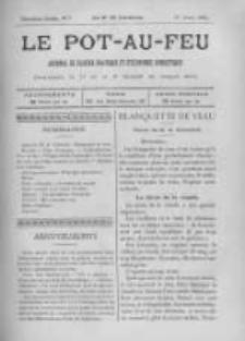 Le Pot-au-feu: journal de cuisine pratique et d'economie domestique. 1894 An.2 No.7