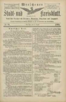 Wreschener Stadt und Kreisblatt: amtlicher Anzeiger für Wreschen, Miloslaw, Strzalkowo und Umgegend 1905.08.19 Nr98