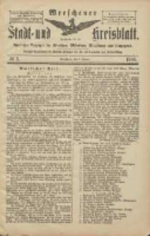 Wreschener Stadt und Kreisblatt: amtlicher Anzeiger für Wreschen, Miloslaw, Strzalkowo und Umgegend 1906.01.09 Nr3