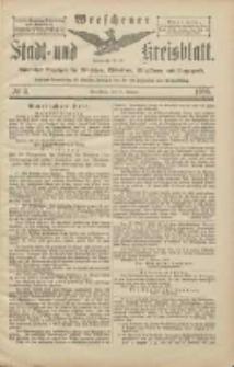 Wreschener Stadt und Kreisblatt: amtlicher Anzeiger für Wreschen, Miloslaw, Strzalkowo und Umgegend 1906.01.11 Nr4