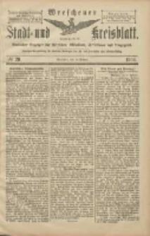 Wreschener Stadt und Kreisblatt: amtlicher Anzeiger für Wreschen, Miloslaw, Strzalkowo und Umgegend 1906.02.17 Nr20