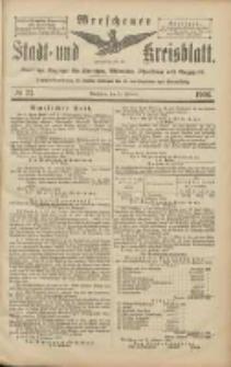 Wreschener Stadt und Kreisblatt: amtlicher Anzeiger für Wreschen, Miloslaw, Strzalkowo und Umgegend 1906.02.24 Nr23
