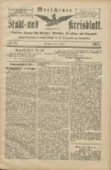 Wreschener Stadt und Kreisblatt: amtlicher Anzeiger für Wreschen, Miloslaw, Strzalkowo und Umgegend 1906.03.01 Nr25
