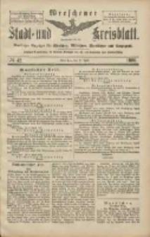 Wreschener Stadt und Kreisblatt: amtlicher Anzeiger für Wreschen, Miloslaw, Strzalkowo und Umgegend 1906.04.10 Nr42