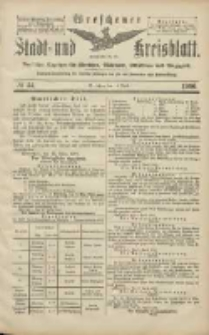 Wreschener Stadt und Kreisblatt: amtlicher Anzeiger für Wreschen, Miloslaw, Strzalkowo und Umgegend 1906.04.14 Nr44