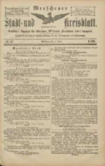 Wreschener Stadt und Kreisblatt: amtlicher Anzeiger für Wreschen, Miloslaw, Strzalkowo und Umgegend 1906.04.19 Nr45