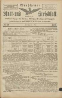 Wreschener Stadt und Kreisblatt: amtlicher Anzeiger für Wreschen, Miloslaw, Strzalkowo und Umgegend 1906.05.01 Nr50