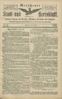Wreschener Stadt und Kreisblatt: amtlicher Anzeiger für Wreschen, Miloslaw, Strzalkowo und Umgegend 1906.05.29 Nr62