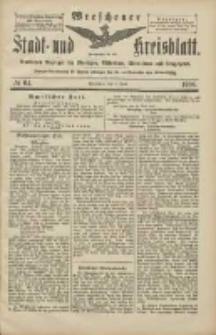 Wreschener Stadt und Kreisblatt: amtlicher Anzeiger für Wreschen, Miloslaw, Strzalkowo und Umgegend 1906.06.02 Nr64