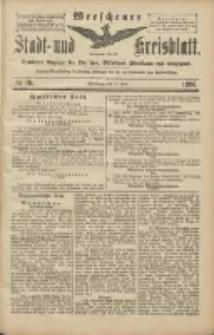 Wreschener Stadt und Kreisblatt: amtlicher Anzeiger für Wreschen, Miloslaw, Strzalkowo und Umgegend 1906.06.19 Nr70