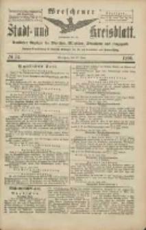 Wreschener Stadt und Kreisblatt: amtlicher Anzeiger für Wreschen, Miloslaw, Strzalkowo und Umgegend 1906.06.28 Nr74
