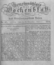 Gemeinnütziges Wochenblatt für das Grossherzogthum Posen. 1836.11.18 No.47