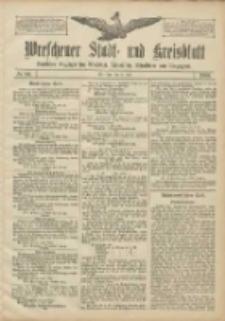 Wreschener Stadt und Kreisblatt: amtlicher Anzeiger für Wreschen, Miloslaw, Strzalkowo und Umgegend 1906.07.21 Nr84