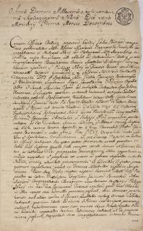 Dokument tyczący się ks. A. M. Bagnowskiego filipina poznańskiego